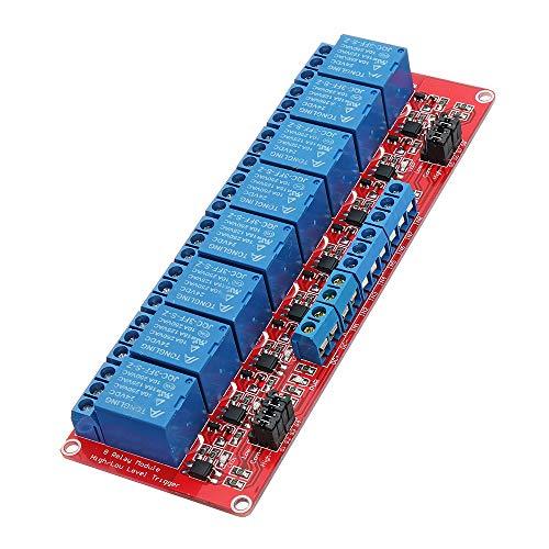 ILS - 24 V Módulo acoplador óptico relé 8 Canales Nivel activación para Arduino