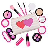 AMOSTING Kids Pretend Makeup Toys for Girls Pretend Play Cosmetic Beauty Princess Makeup Set with Cute Cosmetic Bag...