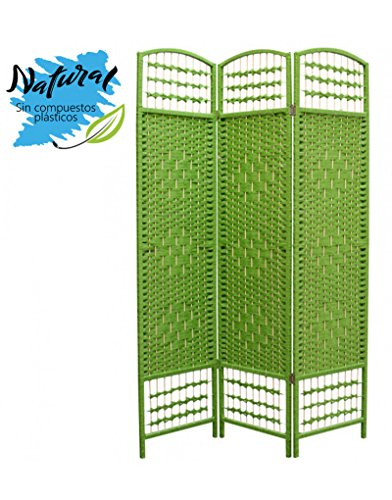 Home Line Biombo Verde Junco Natural - 3 Paneles