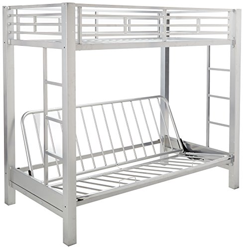 Sherrill Twin over Futon Metal Bunk Bed Silver