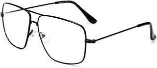 Dollger Classic Glasses Clear Lens Non Prescription Metal Frame Eyewear Men Women