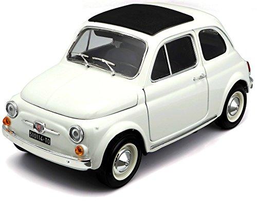 BBurago - 12020 - Voiture sans pile - Reproduction - Fiat 500 F (1965) - échelle 1/16 Coloris aléatoire