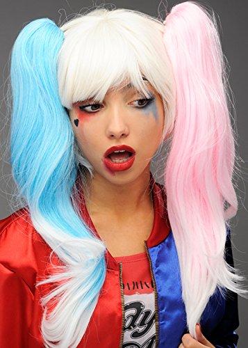 Suicide Harley Quinn Style perruque déviants