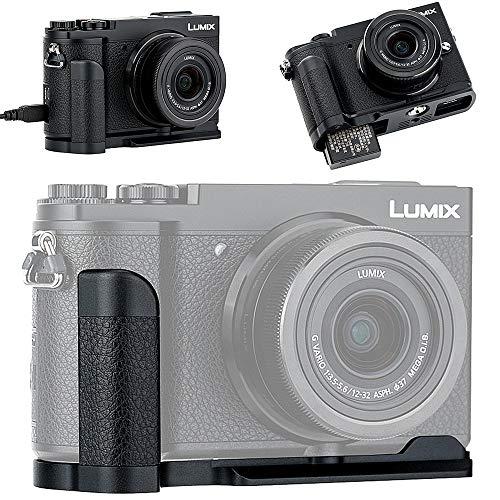 JJC 金属ハンドグリップ Panasonic Lumix GX7 Mark III II GX7M3 GX7M2 用 DMW-HGR2 互換 電池交換便利
