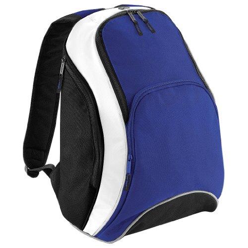 BagBase Teamwear Rucksack, 21 Liter (Einheitsgröße) (Königsblau/Schwarz/Weiß)