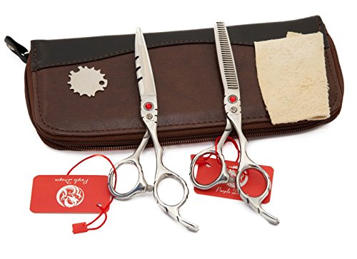 6CR Profi Haar Friseurscheren + Effilierschere Haar Scheren Schere Haarschneideschere Japanischen Edelstahl 6,00