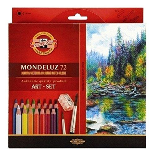 Mondeluz 72 Colored Water Color Pencils Aquarell Drawing Set