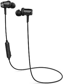 Bluetooth Headphones, BlitzWolf Magnetic Stereo IPX4 Sweatproof Wireless Sport Earphones in Ear Earbuds for Running Gym (L...