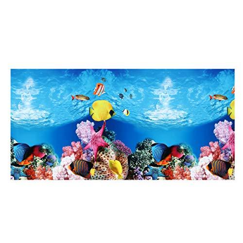 Balacoo Aquarium Hintergrund Aufkleber Doppelseite Seestück Tapete Aquarium Hintergrund Wasser Unterwasser Dekoration Statische Haften Vinyl Fotografie
