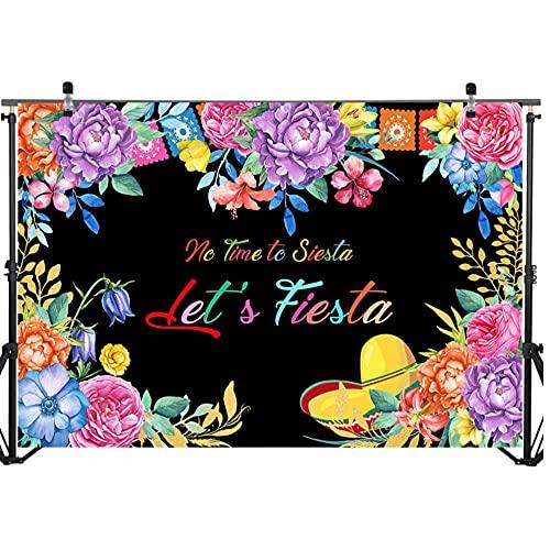 bailingniao Telón de fondo de verano flor recién nacido bebé ducha fondo fotografía México fiesta de cumpleaños fondos 2.1x1.5 m