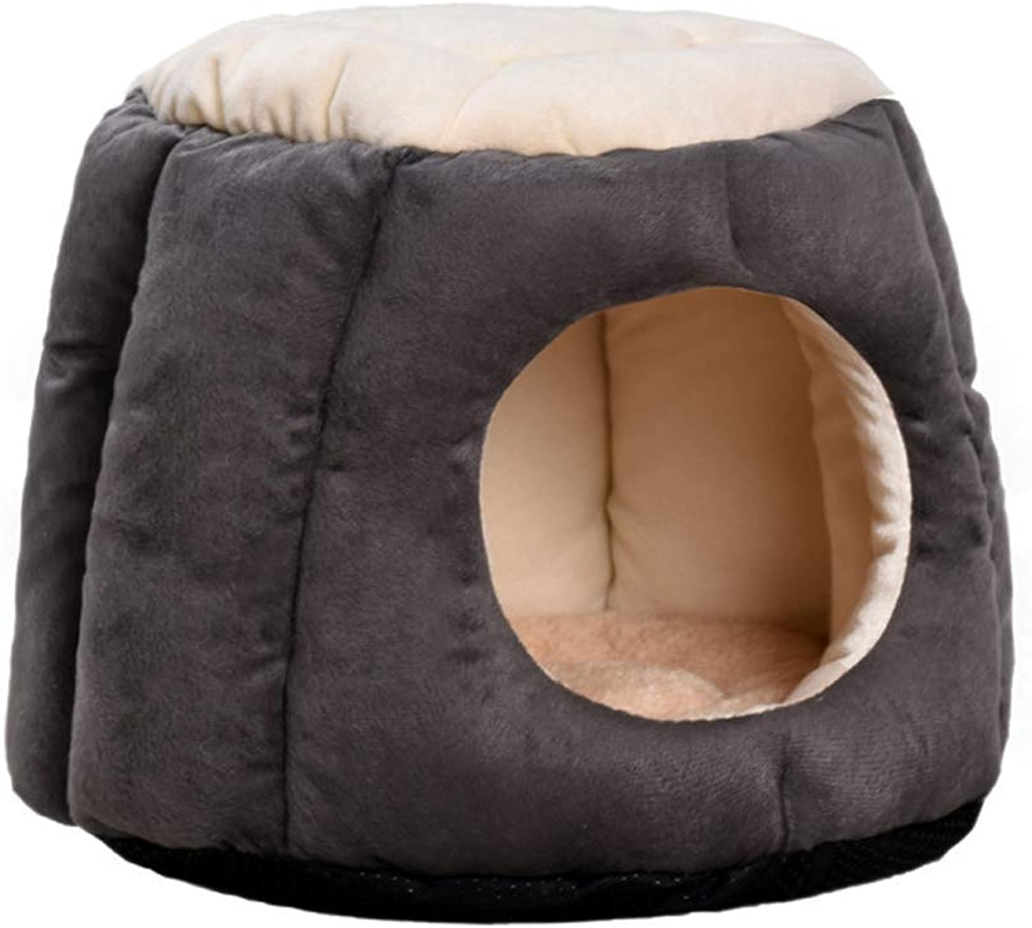 Pet nest, PP cotton semiclosed winter cat dog warm bed sofa, 3 colors   2 sizes