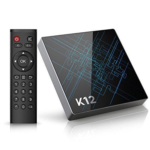 (Offerta) Bqeel K12 Android TV Box / Android 6.0 OS / Amlogic S912 Qcta Core ARM Cortex-A53 CPU / 2G DDR3 + 16G Emmc /Dual Band WiFi / 1000M LAN / Bluetooth 4.1 /4K HD/ SMART TV BOX (K12 Android 6.0)