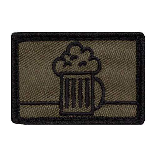 Café Viereck ® Bundeswehr Lustige Bier Taktik Zeichen Nachschub Gestickt mit Klett - 5 cm x 3,5 cm