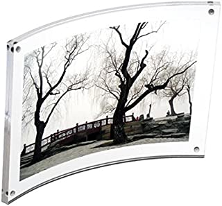 Canetti Original Magnet Frame Curved 5x7 Double Sided Magnetic Picture Frame, Floating Photo Frame, Two Acrylic Panel