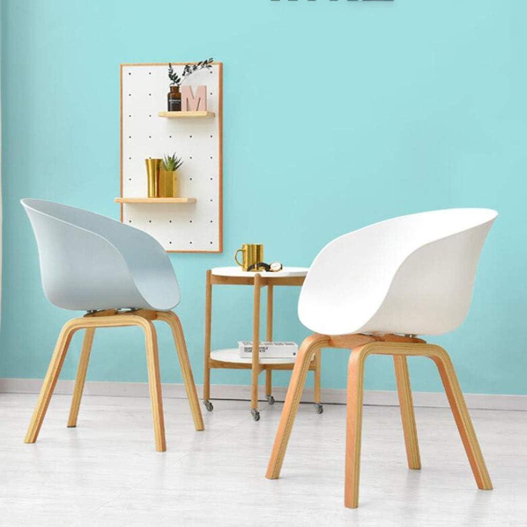HURONG168 Chaises de cuisine Chaise nordique en bois chaise de bureau chaise de salon chaise de café chaise de salle à manger siège lounge (Couleur : Blanc) Bleu