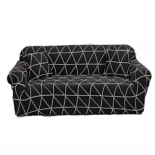 Fundas para Sofá,Decorativas Elástica Lavable Simplicidad Moderna Cubre Sofá 1/2/3/4 Plazas 1-Pieza Antideslizante Funda Protectora para Sofá-008_3-Seater(190-230cm/75-91inch)