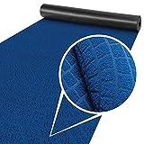 ANRO Alfombra de pasillo para cocina, alfombra de pasillo, lavable, alfombra de cocina, ajustable, antideslizante, terciopelo, color azul, 65 x 200 cm