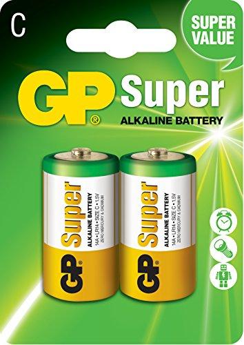 GP Batterien (C, Baby, LR 14, Alkaline, 1,5V)