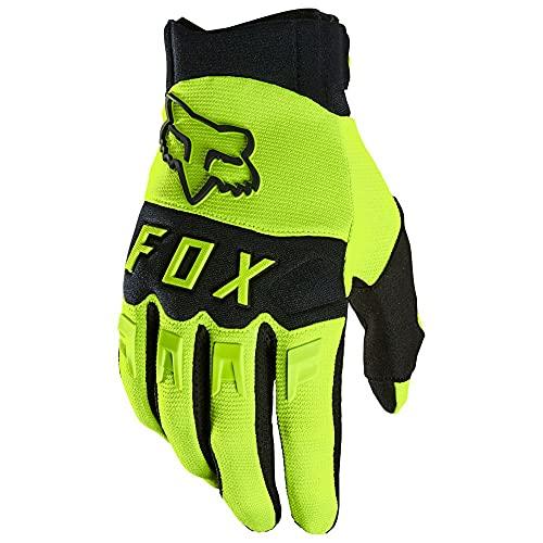 Fox Dirtpaw Glove Yellow M, Fluorescent Yellow