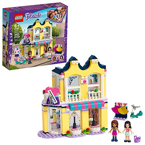 LEGO Friends Emma's Fashion Shop 41427, Includes Friends Emma and Andrea Buildable Mini-Doll Figures and a Range of Fashion Accessories to Inspire Hours of Creative Fun, New 2020 (343 Pieces)