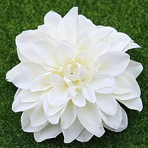 Artificial Flowers 10 Pieces Rose Flowers Head Artificial Flower Dahlia Silk Flower Rose Flower Head Flower Head Wedding Bouquets