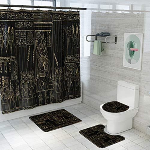 UMMU Alfombra cuadrada para asiento de inodoro, alfombra base, impermeable, cortina de...