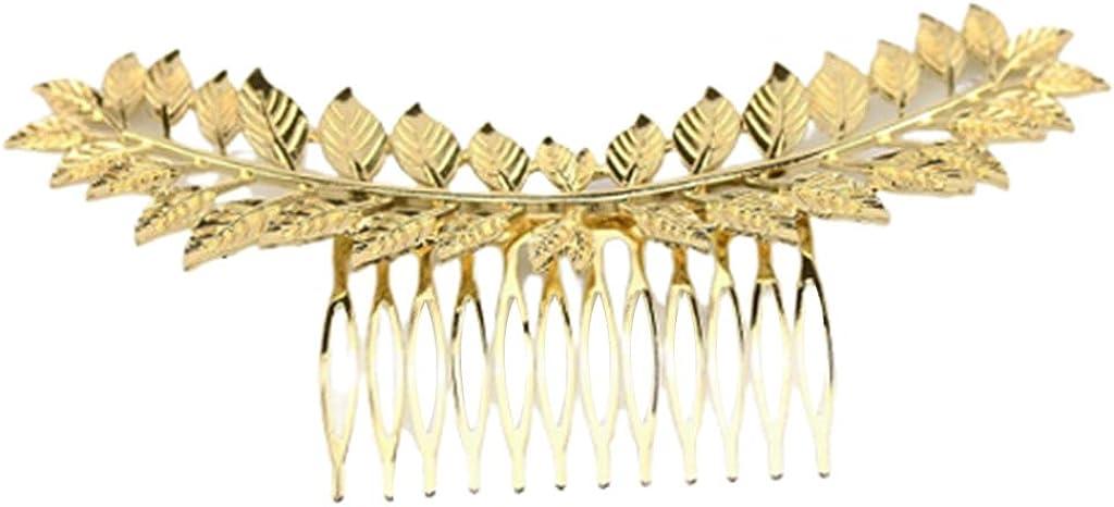 LOVIVER Handgefertigter Haarkamm mit Kristallperle und Blatt f/ür Hochzeitsbrautjungfer Kopfschmuck f/ür Abschlussball