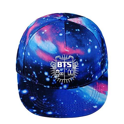 BTS Bulletproof Youth League Hat Starry Baseball Cap Flat Brim Cap