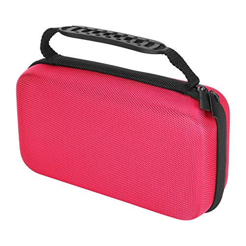 Pens Storage Case, Practical Storage Box, 4 Colors Portable with Multiple Compartments Durable for Artists Students(Rose red)