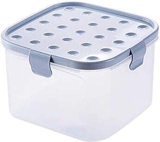 AWAING Bocaux Seal céréales des contenants Réservoir de stockage en plastique transparent avec couvercle Cuisine Grain boî...
