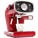 Retro rote Kaffeemaschine italienische halbautomatische Kaffeekanne Haushalt kommerziellen...