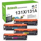 Aztech Compatible Toner Cartridge Replacement for HP 131A 131X HP Laserjet Pro 200 Color M251nw M251n MFP M276nw M276n CF210X CF211A CF212A CF213A (Black/Cyan/Yellow/Magenta, 4-Pack)
