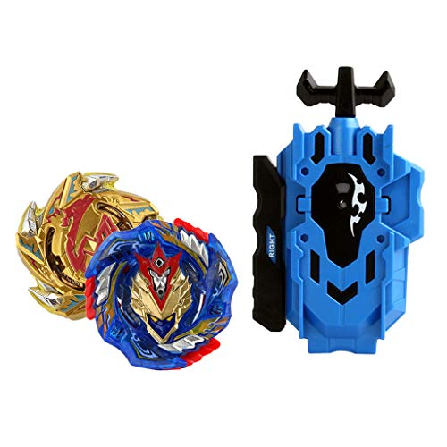 Baoblaze 2pcs Juguete de Peonza de Batalla con Lanzador Doble Dirección Lucha Maestro Fusión Metal B-113, B-127