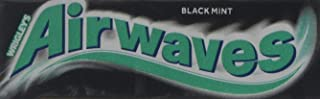 Wrigley's Airwaves Black Mint Menthol Sugarfree Chewing Gum 10 Pieces (Pack of 30)