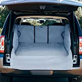 xc60 cargo cover - FrontPet Quilted Pet SUV Cargo Cover Extra Wide and Extra Long SUV Cover, Universal Fit Liner Cover for Any Animal (XXL Extended Width, Gray)