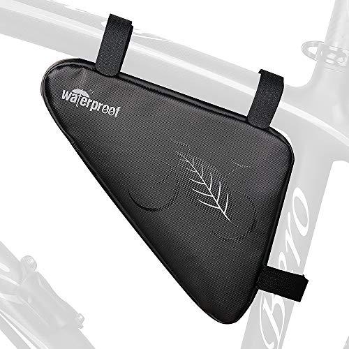 Achort Bolsa de Triángulo para Bicicleta, Bolsa de Almacenamiento para Cuadro de Bicicleta, Bolsa Impermeable para el Tubo Superior de Bicicleta para Equipos de Ciclismo