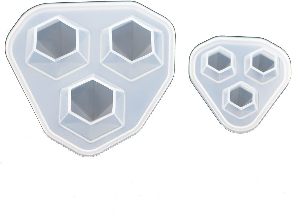 2pieces Pack Diamond In a popularity Silicone Mold Resin Pendant Char Factory outlet Epoxy for