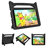 Riaour Kids Case for Samsung Galaxy Tab A 8.0 2019 T290 T295,Shockproof Convertible Handle Stand Cover Light Weight Kids Friendly Protective Case for 8.0 Inch Galaxy Tab A 2019 Without S Pen(Black)