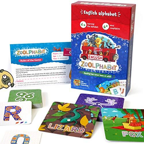 TheBrainyBand Lernspiel für Kinder ab 5 8 Jahren Englisch Lernen Kartenspiel für Vorschule und Greundschule English Learning Brettspiele Memory und Gedächtnis