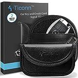 Mini Faraday Bag for Key Fob (2 Pack), TICONN Premium Faraday Cage Car Key Protector - RFID Signal Blocking, Anti-Theft Pouch, Anti-Hacking Case Blocker (PU Leather)