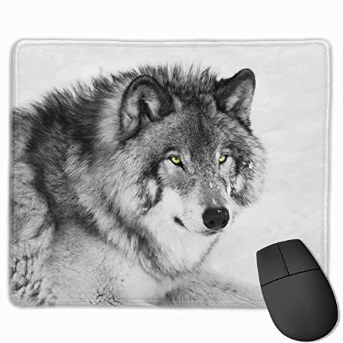Alfombrilla de ratón Wolf Mini Gaming Control rápido y preciso para Juegos y Oficina (25 x 30 cm)