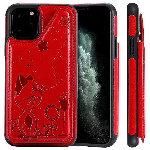 RZL Teléfono móvil Fundas para iPhone 12/12 Pro/Pro 12 MAX 12 Mini, Tarjeta Monedero de Cuero de Lujo 3D Estuche Case Bolsas Soporte del sostenedor del teléfono de la Cubierta para el iPhone para el