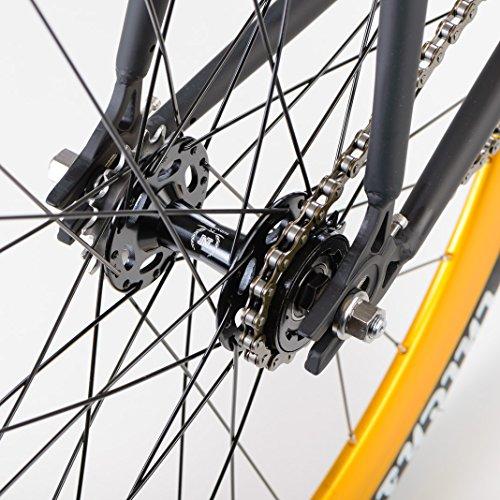 bonvelo Singlespeed Fixie Fahrrad Blizz Heart of Gold (XL / 59cm für Körpergrößen ab 181cm) - 5