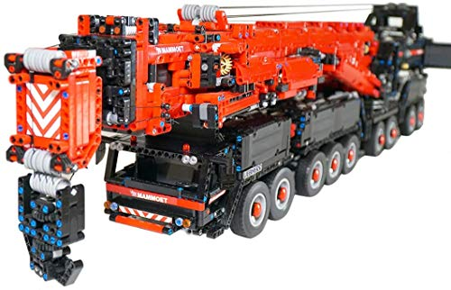 ZJLA Technic Liebherr Crane LTM 11200 Juego de construcción, 2.4 GHz y APP Dual Model RC Crane Juguete de construcción para adultos y niños (7692 piezas) (versión RC)