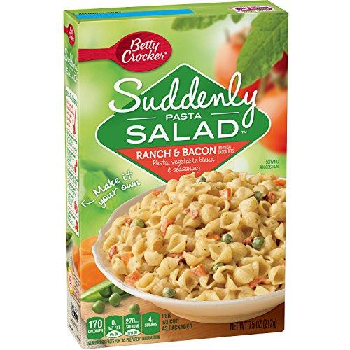 Betty Crocker Suddenly Salad Ranch & Bacon Pasta Salad 7.5 oz Box (pack of 12)