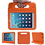 TRELC Tablet Kids Shockproof Case, Portable Protective Stand Cover for iPad Mini 4/5 (for iPad Mini 4/5, Orange)