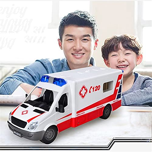 WANIYA1 Control Remoto Ambulancia RC RC Policía Coche Niños Doctor Eléctrico Ambulancia Simulación Simulación Iluminación 1:18 Modelo de Juguete RC Coche para niños Niños y Adultos Regalo de Juguete