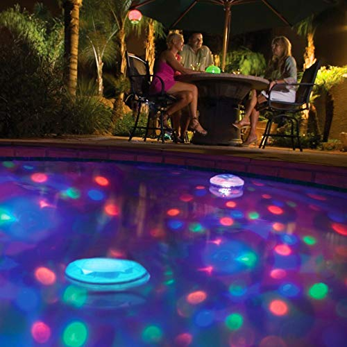 Monsterzeug Unterwasserprojektor für Pool, Badewannen Leuchte, Effektleuchte wasserdicht, 3 Farben Lichtspiel, Underwater spa lights, Badewannen-Spielzeug für Kinder, Batteriebetrieb