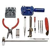 Hemore Kit d'outils de réparation de montre 16 pièces