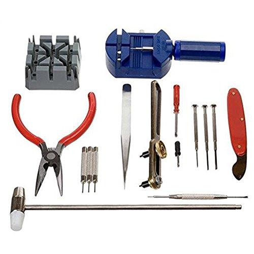 Uhrenkit, Reparaturwerkzeug-Set, professionelles Uhren-Öffner, Reparatur-Set für Uhren, 16-teilig